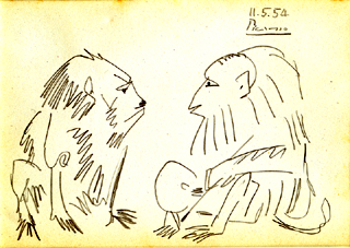 Two Monkeys - Pablo Picasso